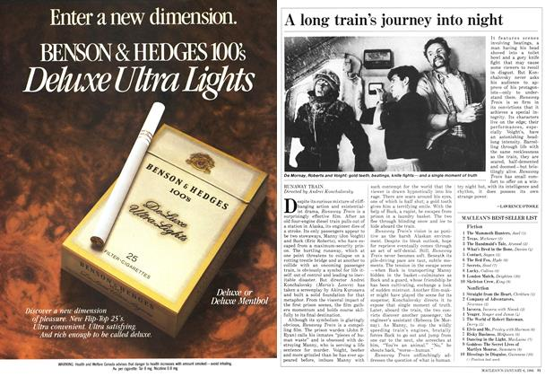 Article Preview: A long train's journey into night, January 1986 | Maclean's