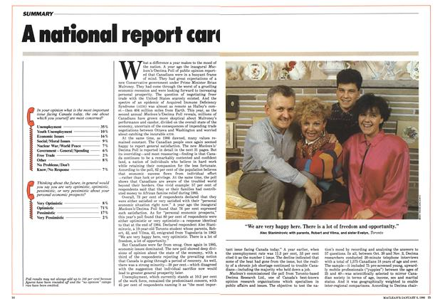 Article Preview: A national report card, January 1986 | Maclean's