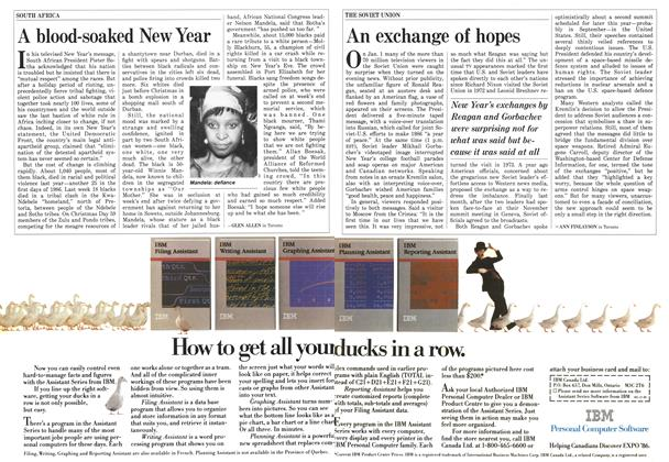 Article Preview: An exchange of hopes, January 1986 | Maclean's