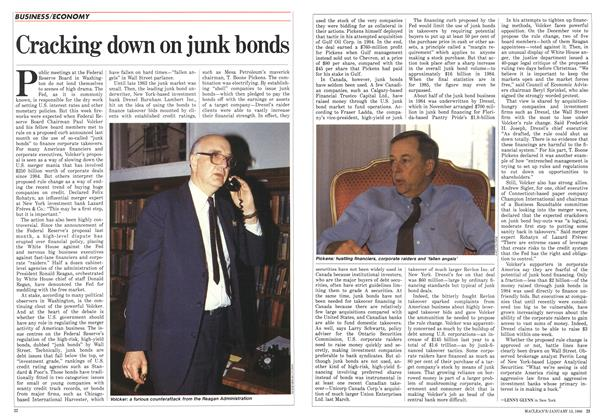 Article Preview: Cracking down on junk bonds, January 1986 | Maclean's