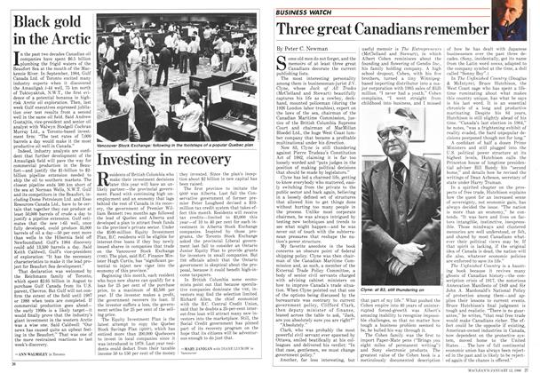 Article Preview: Investing in recovery, January 1986 | Maclean's