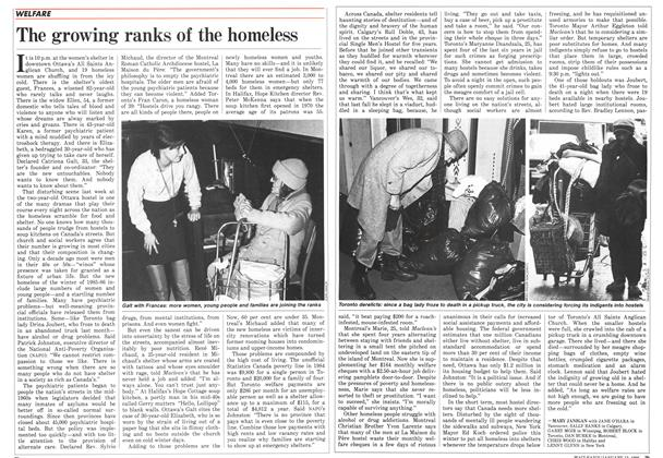Article Preview: The growing ranks of the homeless, January 1986 | Maclean's