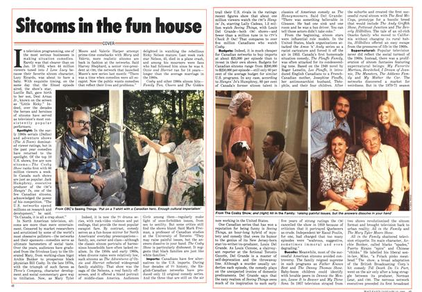 Article Preview: Sitcoms in the fun house, January 1986 | Maclean's