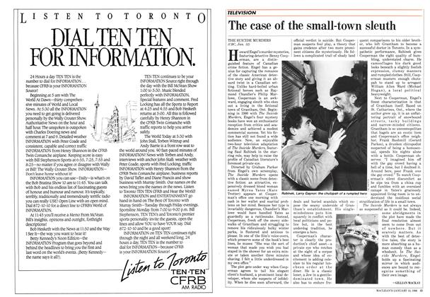 Article Preview: The case of the small-town sleuth, January 1986   Maclean's