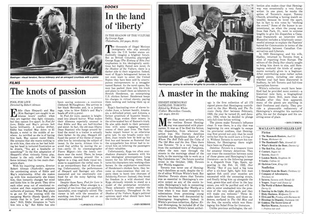Article Preview: A master in the making, January 1986 | Maclean's