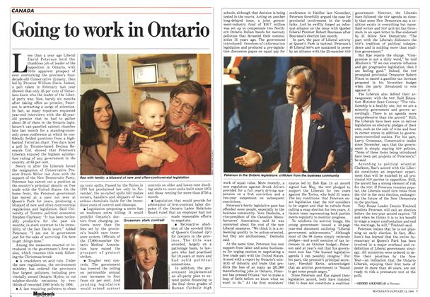 Article Preview: Going to work in Ontario, January 1986 | Maclean's