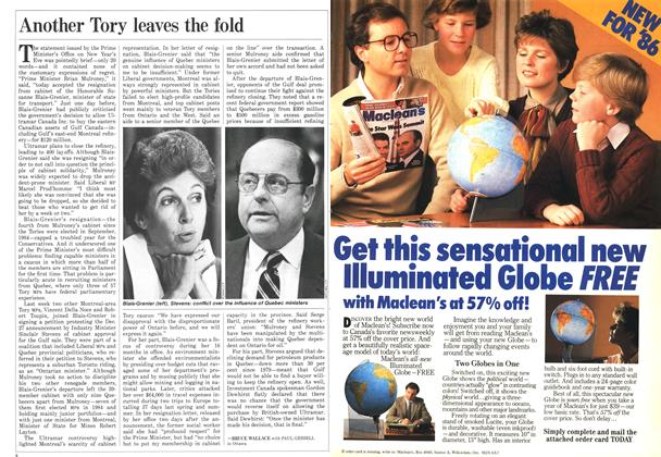 Article Preview: Another Tory leaves the fold, January 1986   Maclean's