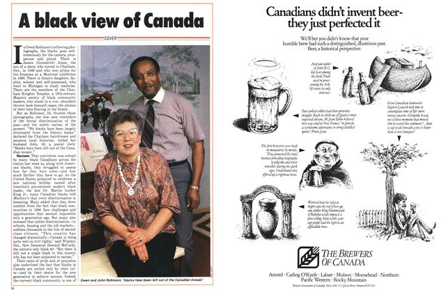 Article Preview: A black view of Canada, January 1986 | Maclean's