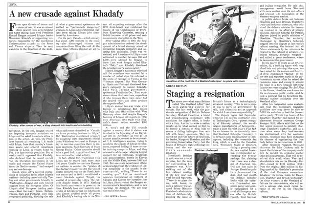 Article Preview: Staging a resignation, January 1986 | Maclean's