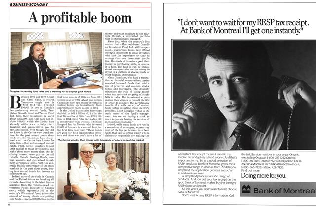 Article Preview: A profitable boom, January 1986 | Maclean's