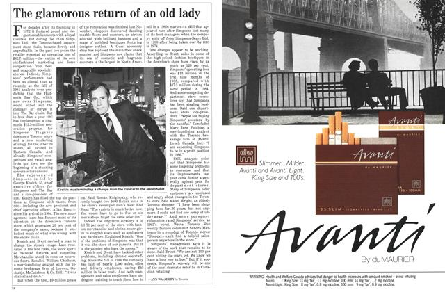 Article Preview: The glamorous return of an old lady, January 1986 | Maclean's