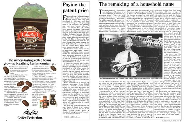 Article Preview: The remaking of a household name, January 1986 | Maclean's