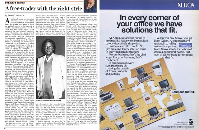 Article Preview: A free-trader with the right style, January 1986 | Maclean's