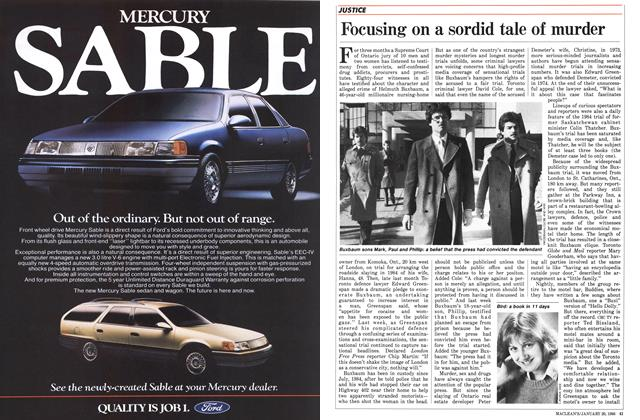 Article Preview: Focusing on a sordid tale of murder, January 1986 | Maclean's