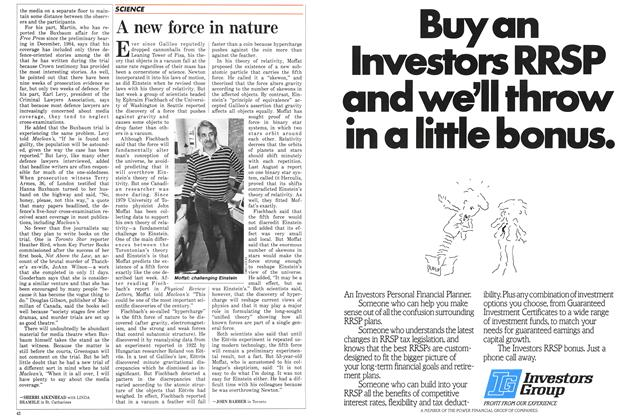 Article Preview: A new force in nature, January 1986 | Maclean's