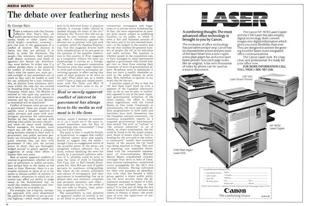 Article Preview: The debate over feathering nests, January 1986 | Maclean's
