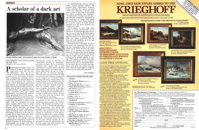 Article Preview: A scholar of a dark art, January 1986 | Maclean's
