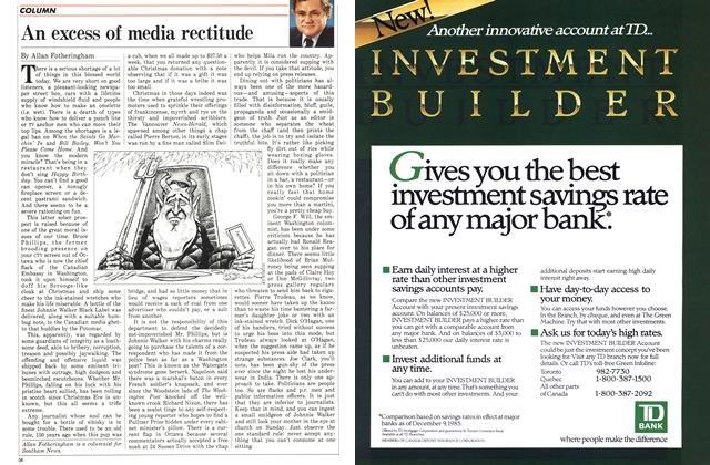 Article Preview: An excess of media rectitude, January 1986 | Maclean's