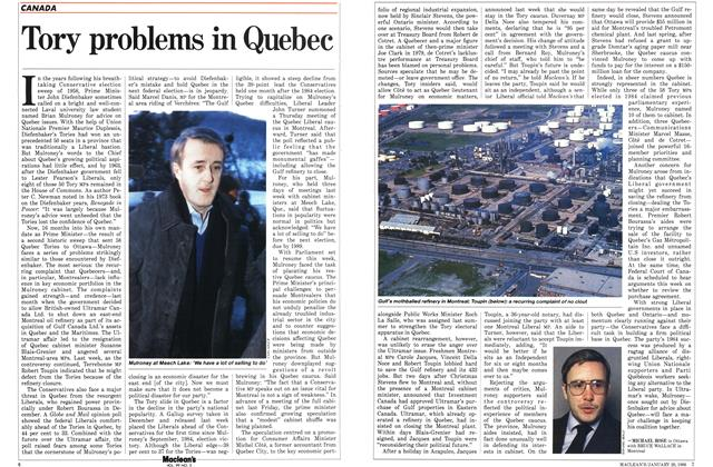 Article Preview: Tory problems in Quebec, January 1986 | Maclean's