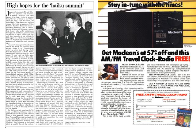 Article Preview: High hopes for the 'haiku summit', January 1986 | Maclean's