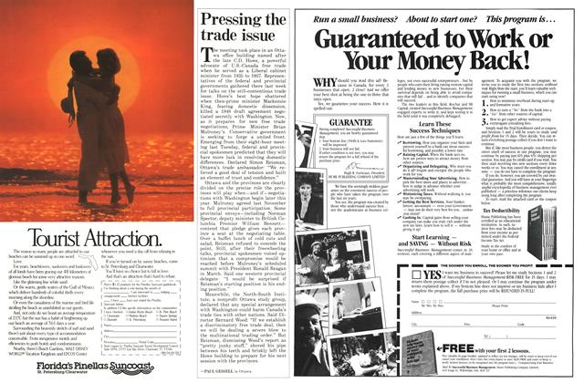 Article Preview: Pressing the trade issue, January 1986 | Maclean's