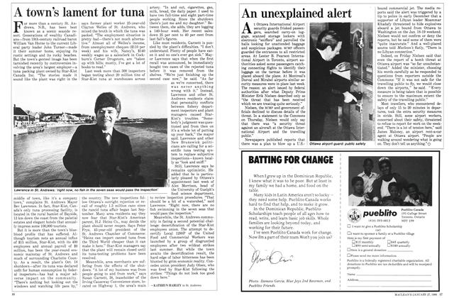 Article Preview: A town's lament for tuna, January 1986 | Maclean's