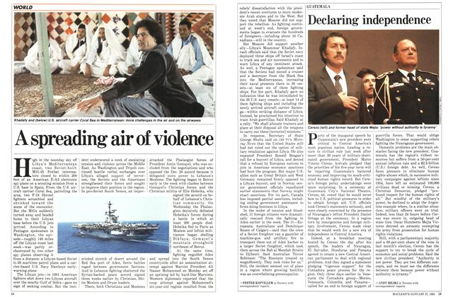 Article Preview: A spreading air of violence, January 1986 | Maclean's