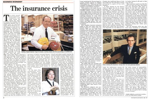 Article Preview: The insurance crisis, January 1986 | Maclean's