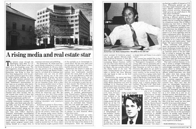 Article Preview: A rising media and real estate star, January 1986 | Maclean's