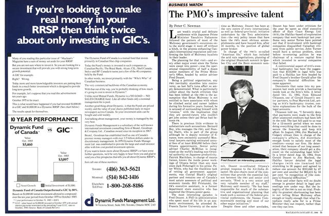 Article Preview: The PMO's impressive talent, January 1986 | Maclean's