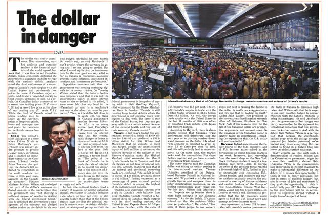 Article Preview: The dollar in danger, January 1986 | Maclean's