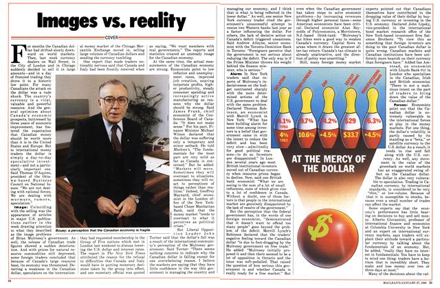 Article Preview: Images vs. reality, January 1986 | Maclean's