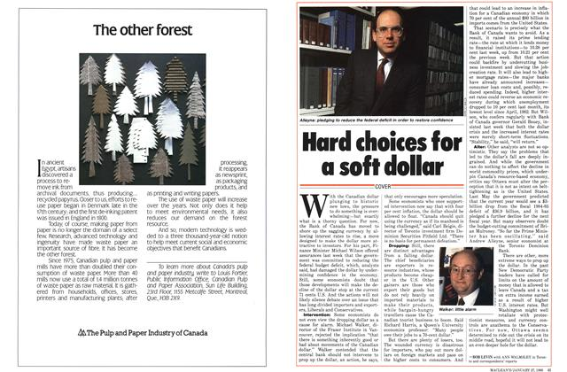 Article Preview: Hard choices for a soft dollar, January 1986 | Maclean's