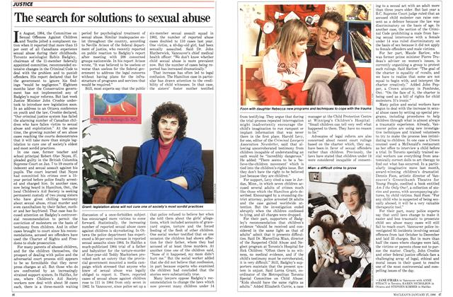 Article Preview: The search for solutions to sexual abuse, January 1986 | Maclean's