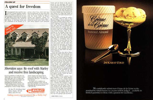 Article Preview: A quest for freedom, January 1986   Maclean's