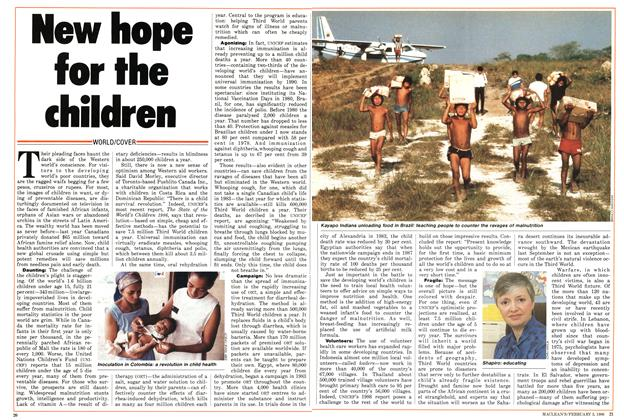 Article Preview: New hope for the children, February 1986 | Maclean's