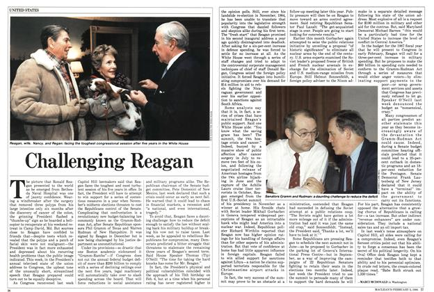 Article Preview: Challenging Reagan, February 1986 | Maclean's