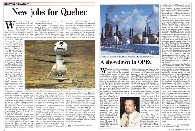 Article Preview: A showdown in OPEC, February 1986 | Maclean's