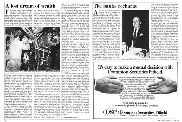 Article Preview: The banks recharge, February 1986 | Maclean's
