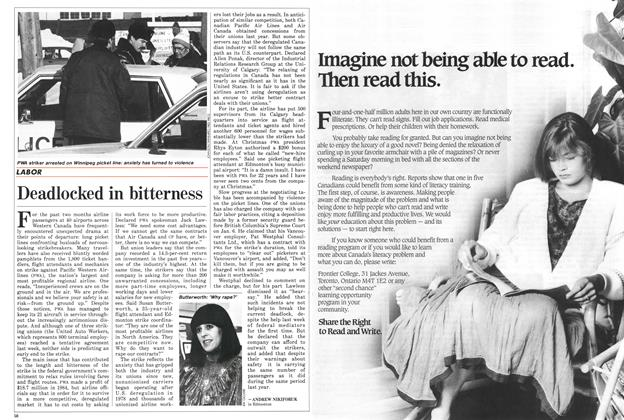 Article Preview: Deadlocked in bitterness, February 1986 | Maclean's