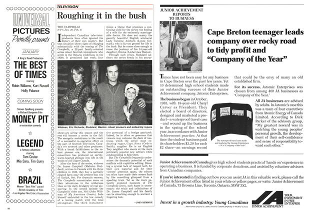 Article Preview: Roughing it in the bush, February 1986 | Maclean's