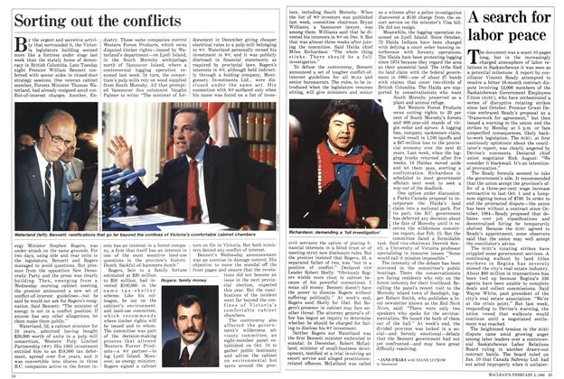 Article Preview: Sorting out the conflicts, February 1986 | Maclean's