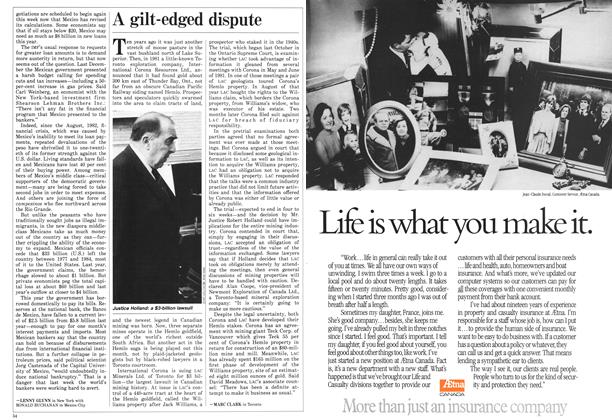 Article Preview: A gilt-edged dispute, February 1986   Maclean's