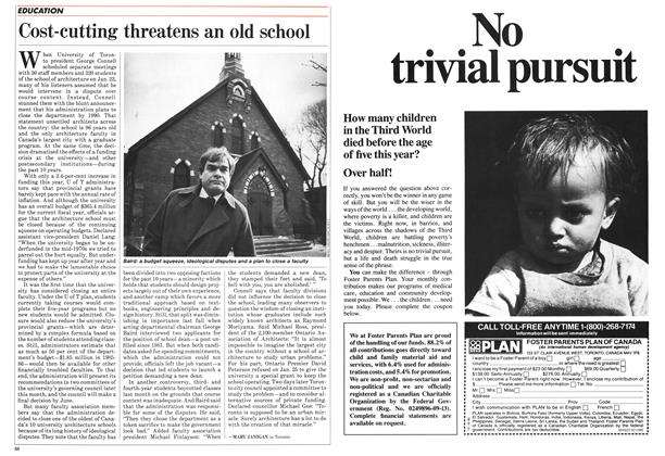 Article Preview: Cost-cutting threatens an old school, February 1986 | Maclean's