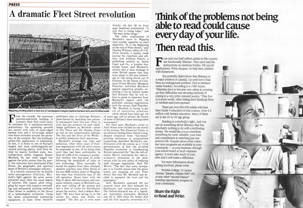 Article Preview: A dramatic Fleet Street revolution, February 1986 | Maclean's