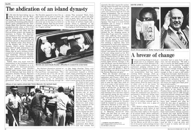 Article Preview: The abdication of an island dynasty, February 1986 | Maclean's