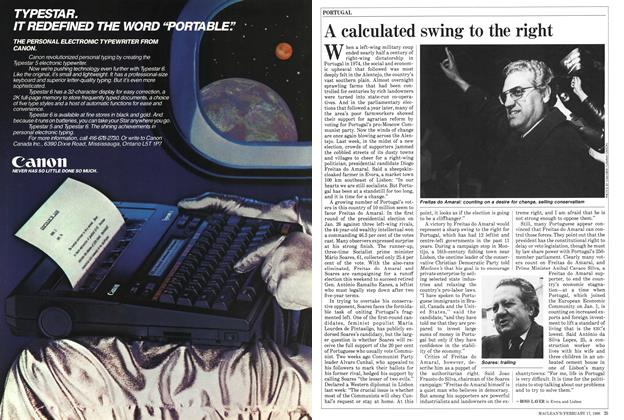 Article Preview: A calculated swing to the right, February 1986 | Maclean's