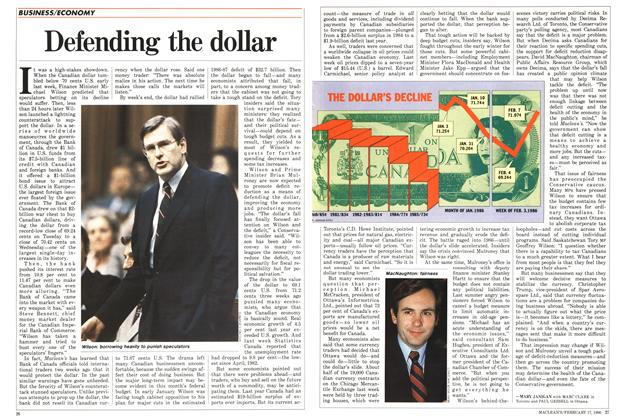 Article Preview: Defending the dollar, February 1986 | Maclean's