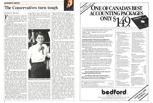 Article Preview: The Conservatives turn tough, February 1986 | Maclean's