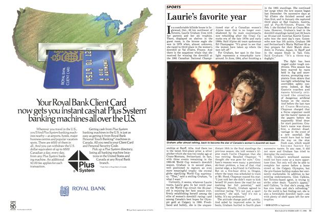 Article Preview: Laurie's favorite year, February 1986 | Maclean's